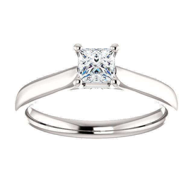 Wedding - Platinum Diamond Solitaire 3/8ct VS Colorless, Custom Solitaires, Princess Cut, Square Cut