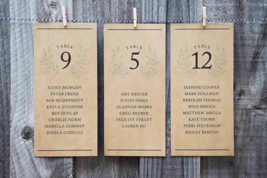 زفاف - Rustic Wedding Seating Chart PRINTABLE - Seating Plan Cards / Table Arrangement Signs