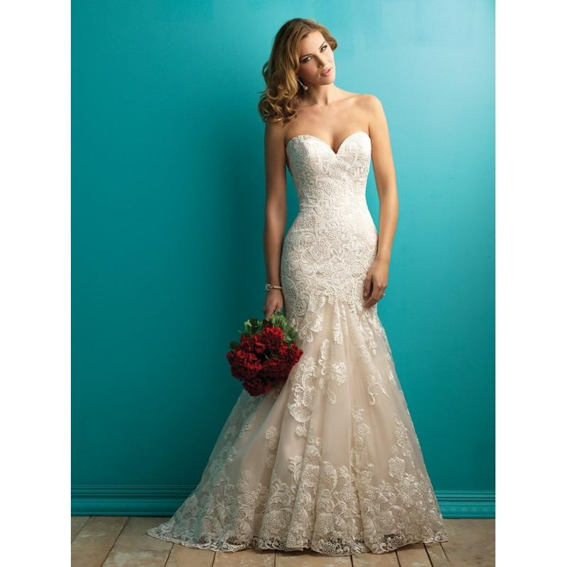 Allure Bridals 9257 Strapless Lace Mermaid Wedding Dress - Crazy ...