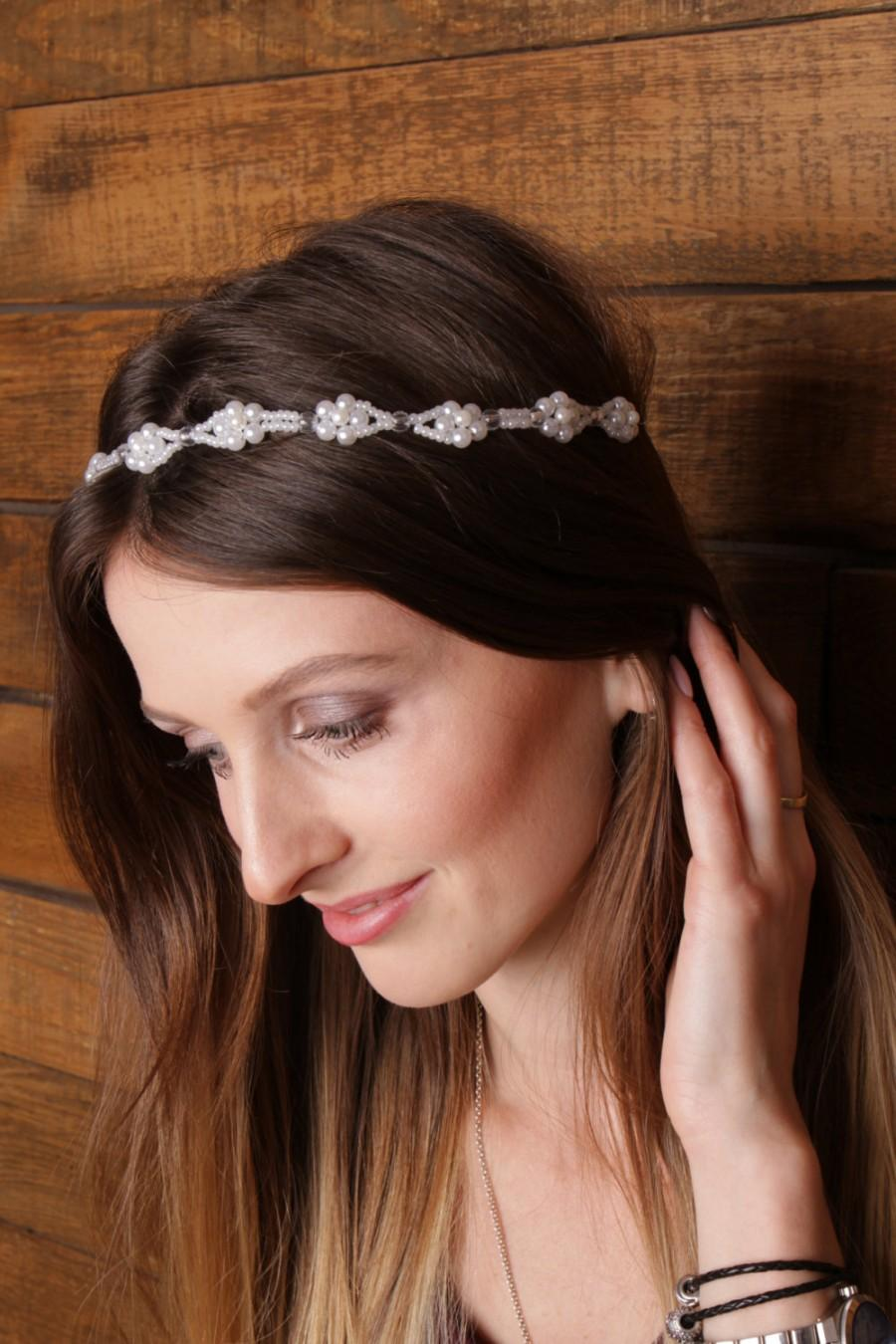 Свадьба - Flower bridal vine bridal head piece wedding hair vine pearl hair vine bridal hair vine pearl wreath bridal hair wreath bridal headpiece