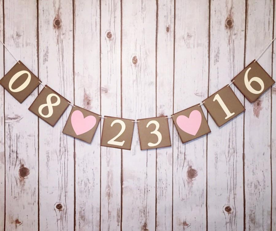 Mariage - SAVE THE DATE banner, save the date sign, engagement banner, engaged banner, save the date photo prop, save the date photo banner