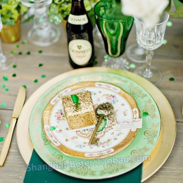 Mariage - Beter Gifts®  金色鑰匙開瓶器WJ099創意新娘回禮Wedding婚禮小物通往天堂的鑰匙