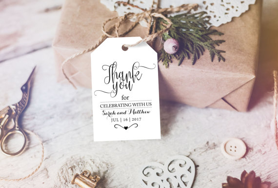 graphic regarding Printable Wedding Favor Tags titled Thank On your own Tag - Marriage ceremony Printable - Marriage ceremony Choose Tag