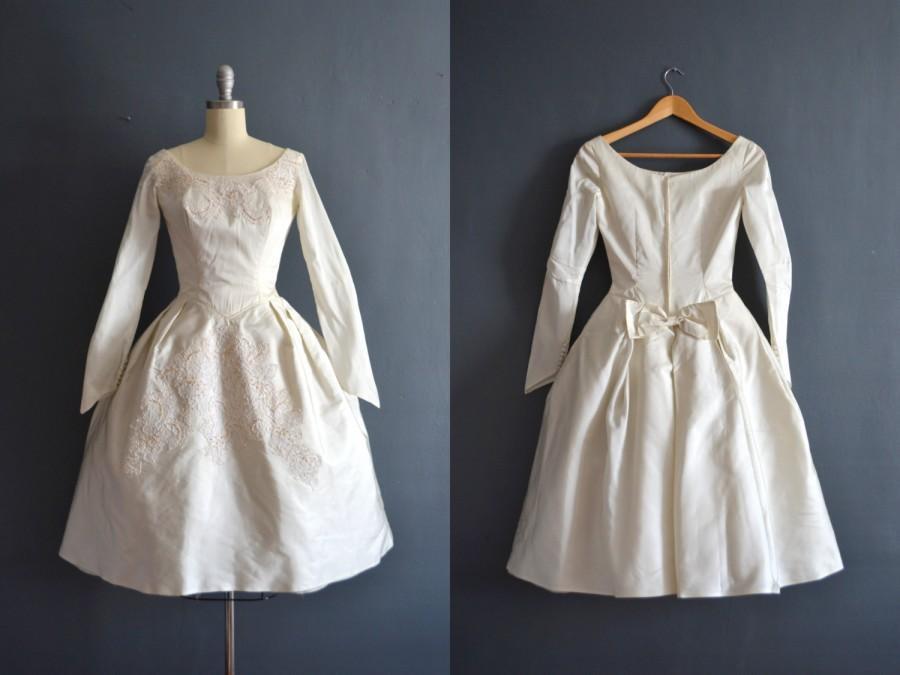 Wedding - Elsa / 1950s wedding dress / vintage 50s wedding dress