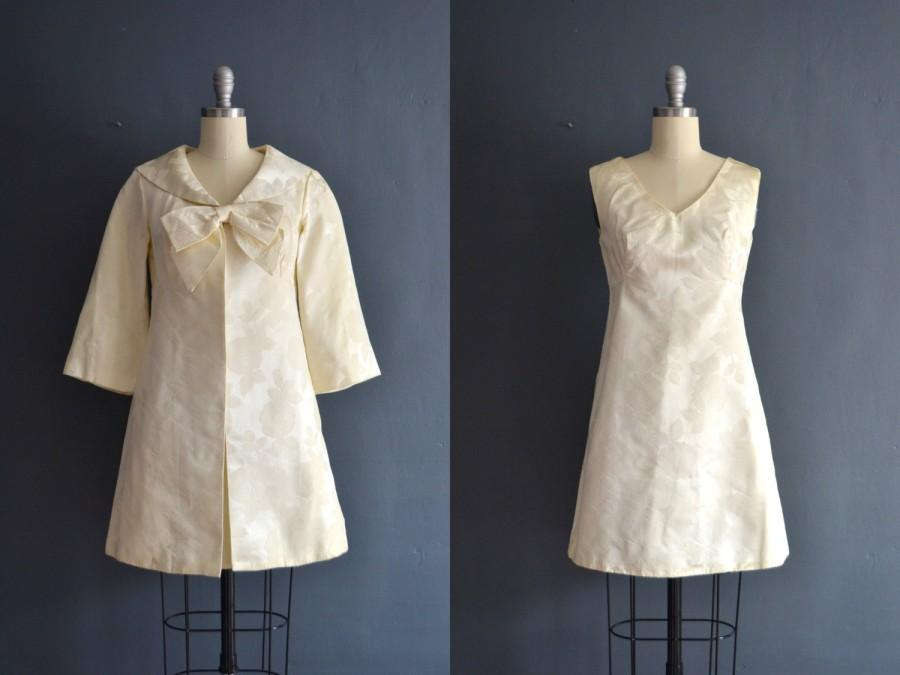 Wedding - Everly / 60s short wedding dress / brocade dress