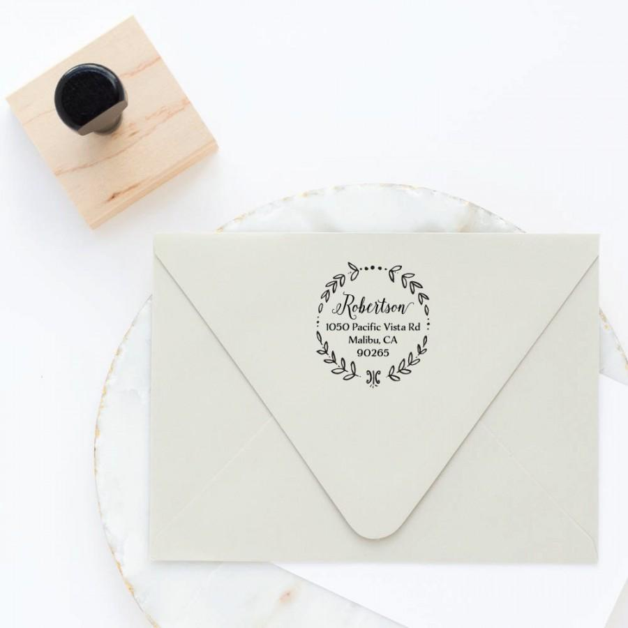 Hochzeit - Return Address Stamp, Circle Address Stamp, Round Address Stamp, Custom Stamp, Personalized Stamp, Self Inking Stamp