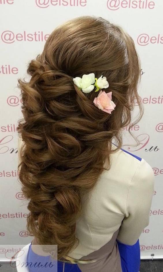 Свадьба - 65 Long Bridesmaid Hair & Bridal Hairstyles For Wedding 2017