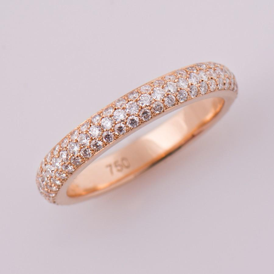 band diamond anniversary gold wedding rose bands