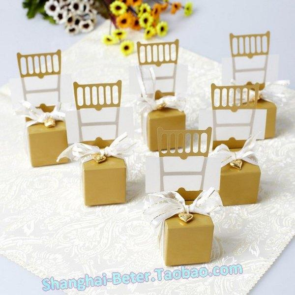 Wedding - 50th anniversary Wedding decor Favor Box Place Card Holder@beterwedding