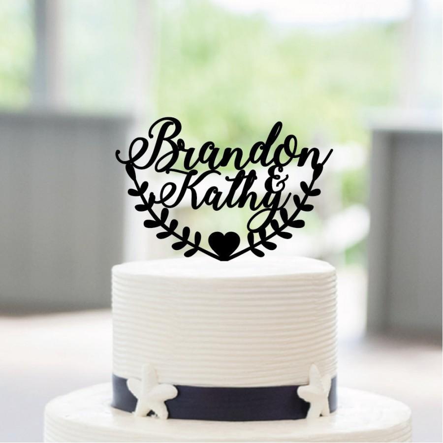 Свадьба - Wedding Cake Topper, Mr and Mrs Cake Topper With Last Name, Custom Cake Topper, Personalized Cake Topper, Wedding Decoration CT213
