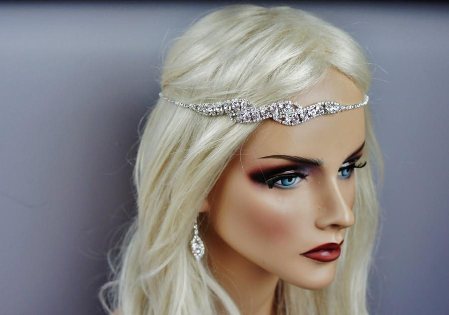 Mariage - Simple Art Deco Bridal Rhinestone Headband, Head Chain, Bohemian, Halo,  Different Styles Headpiece ~ Grace ~