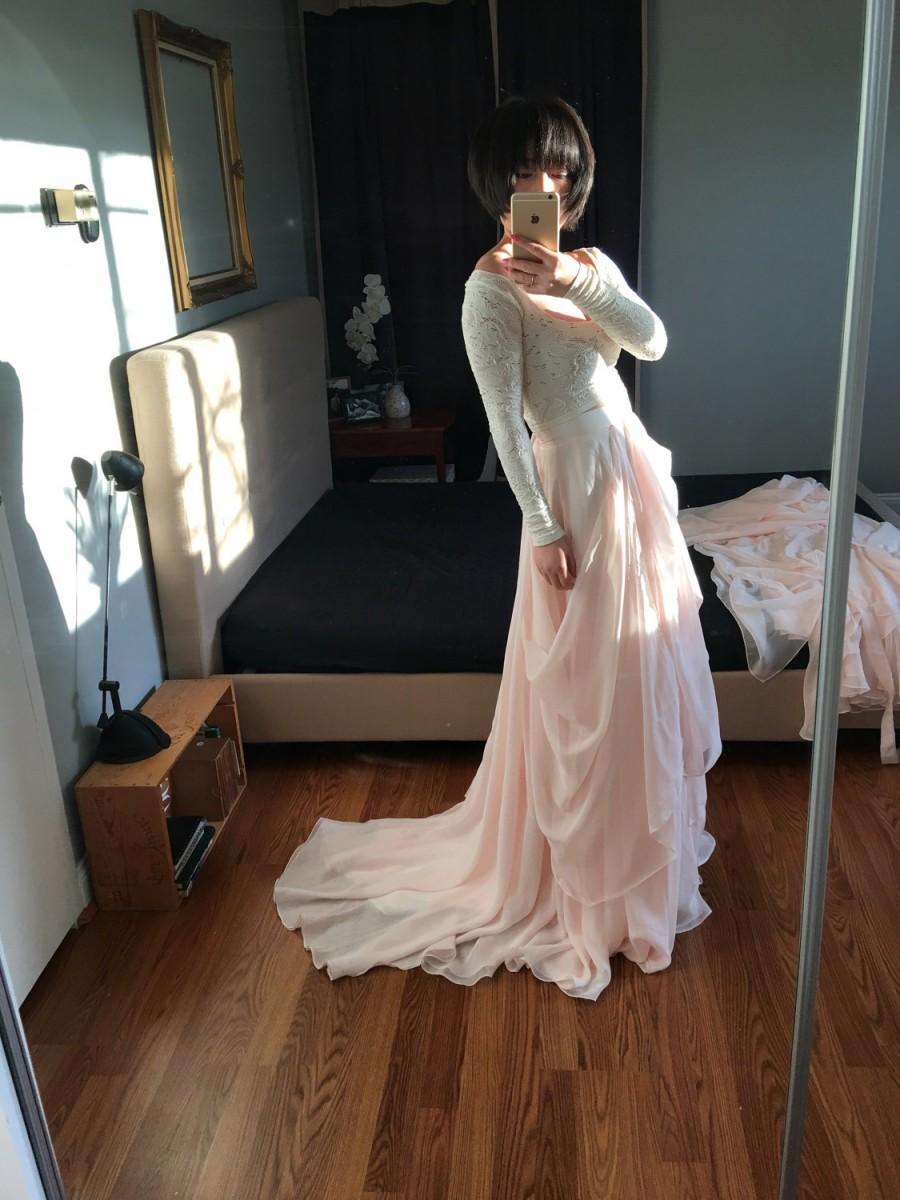 Mariage - Valentina-Custom wedding skirt-Chiffon wedding skirt-Blush wedding skirt-nude bridal skirt-wedding skirt