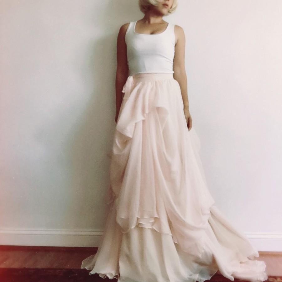 Mariage - Brianna-Custom wedding skirt-Chiffon wedding skirt-Blush wedding skirt-nude bridal skirt-wedding skirt