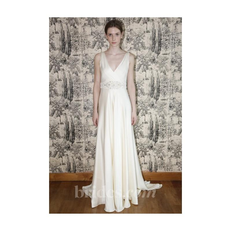 Temperley london 2013 madison sleeveless silk satin a for Satin belt for wedding dress