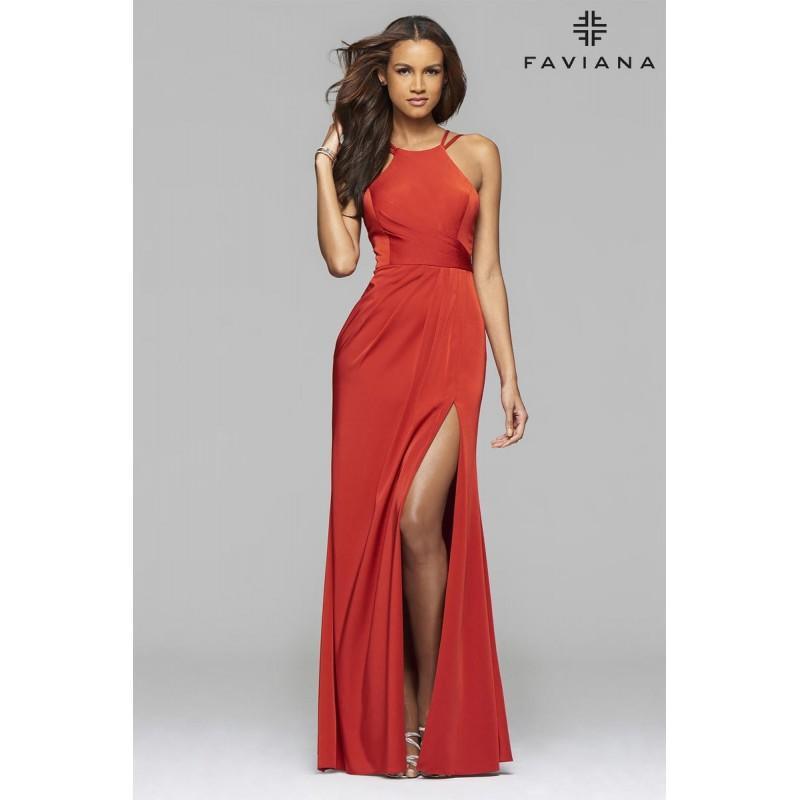 Wedding - Faviana 7904 Black,Red,Wine Dress - The Unique Prom Store