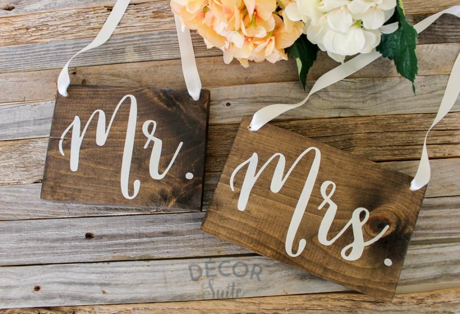 Wedding - Mr and Mrs Wooden Chair Sign
