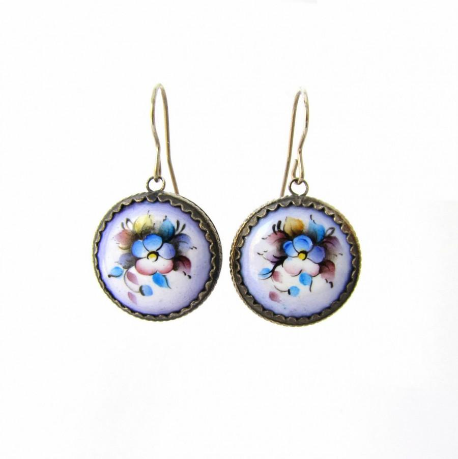 and silver stud product sterling glass pink dichroic blue earrings bright