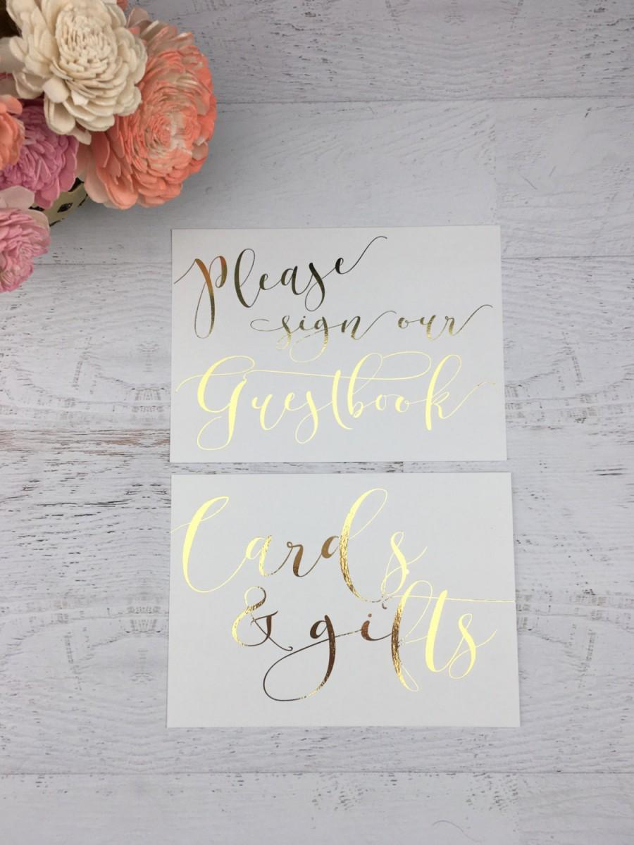 Hochzeit - Wedding Sign Set - Cards and Gifts - Cards & Gifts - Guestbook Sign - Wedding Guestbook Sign - Wedding Gift Table Sign - Wedding Guestbook