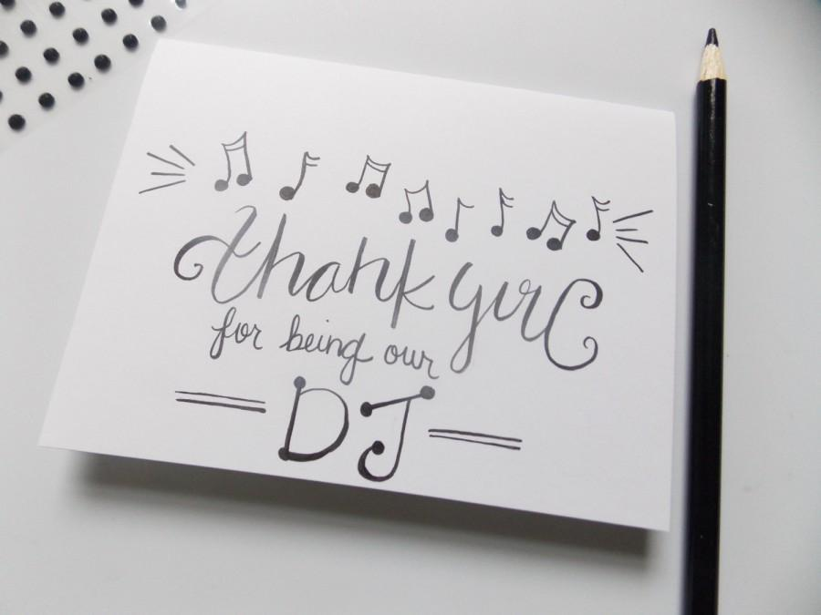 Wedding - Thank you for being our DJ - Wedding Thank You Card - D.J. Thank you Card - Wedding Thank you Card - Musician Thank You - Wedding Card