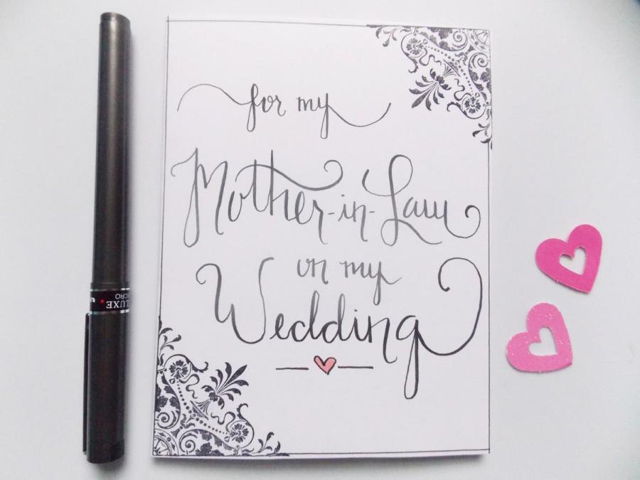 Mariage - For My Mother in Law on my Wedding - Wedding Card for Mother in Law - Card for Mom - Mother of Groom- Mother of Bride -Wedding Gift