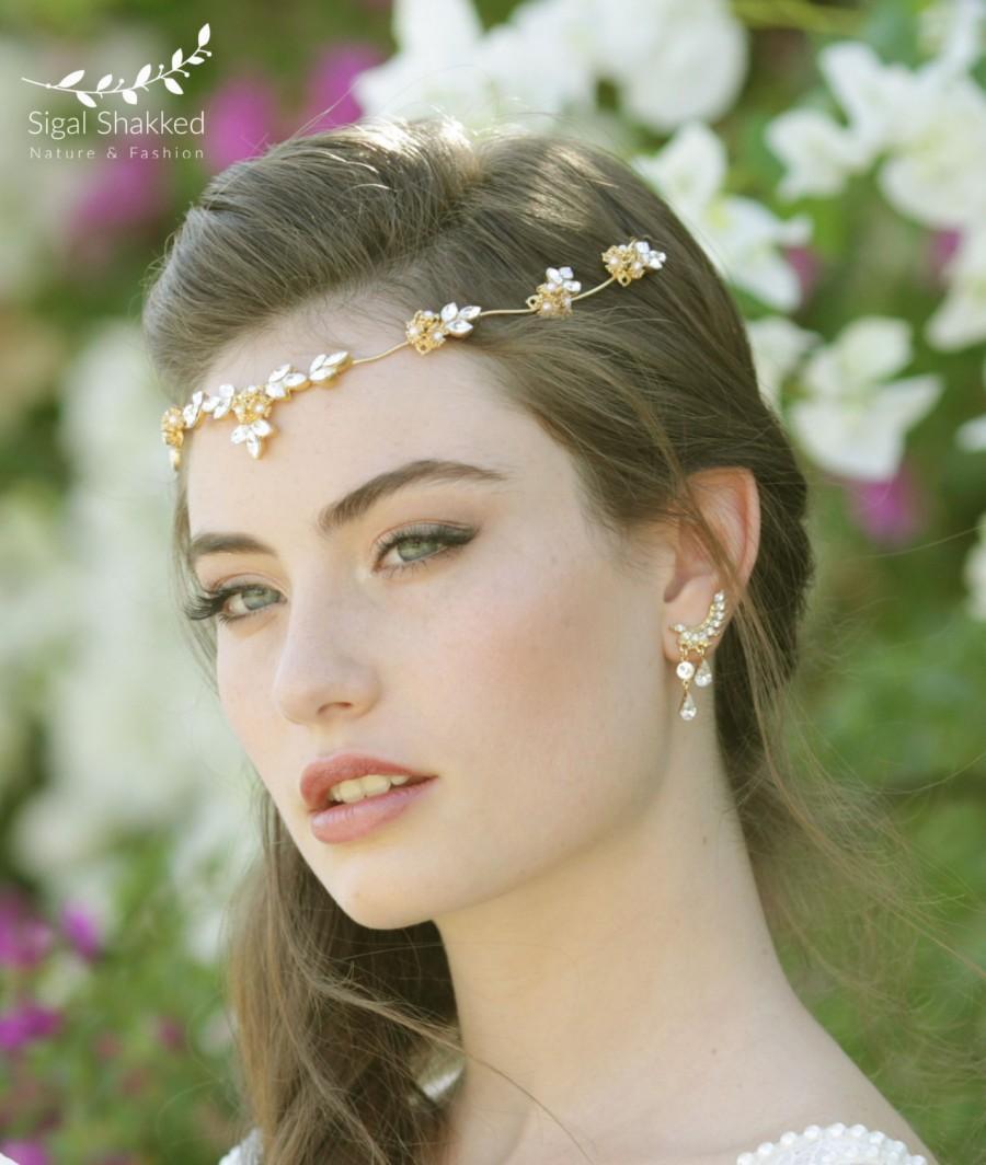 Mariage - Crystal Wreath Crystal Crown Crystal Bridal Hair Piece Bridal Hair Halo Wedding Hair Piece Wedding Tiara Hair Accessories Wedding Headband