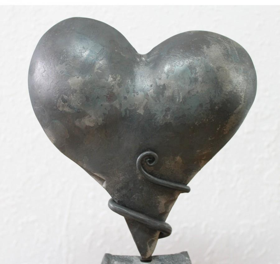 Iron Anniversary Gift Heart Sculpture Personalized 6th Anniversary