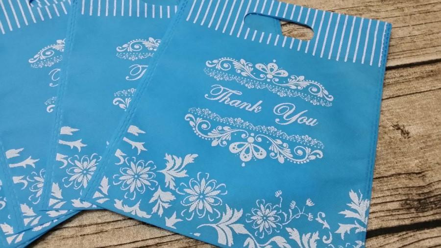 Wedding - 20 Thank You Non Woven Wedding Bags,Wedding Favor Bags, Candy Bags,Gift Bags,Party Bags,Thank you Bags