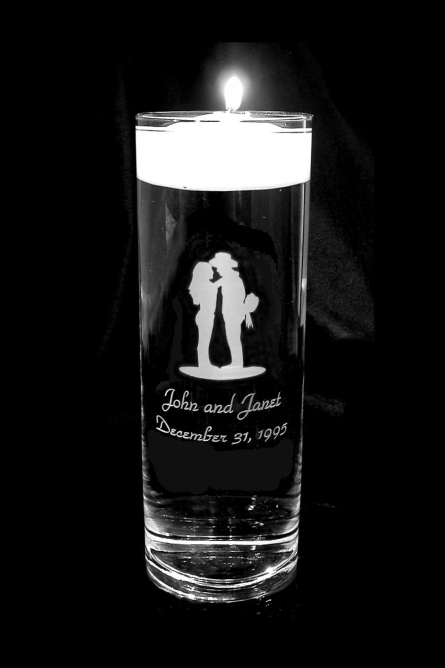 Mariage - Western Design Personalized Wedding Floating Unity Candle 2