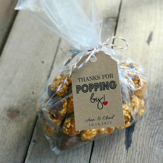 Hochzeit - Favor Tags - Wedding Favor Tags - Popcorn Favor Tags - Party Favors - Popping By