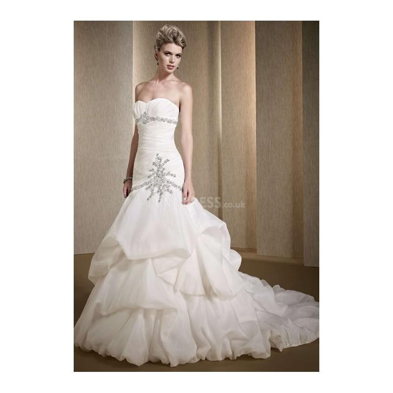 Wedding - Elegant Mermaid Organza Floor Length Sweetheart Wedding Dress With Pick ups - Compelling Wedding Dresses