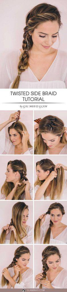 Hochzeit - Medium Hairstyles With Twisted Side Braid