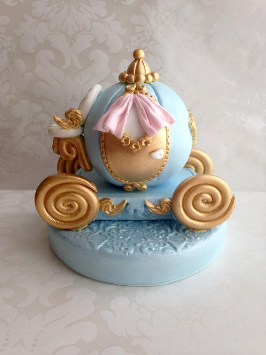 Fondant Princess Carriage Cake TopperCinderella Carriage Cake