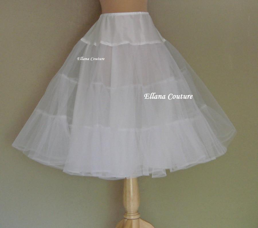 Mariage - Tea Length Crinoline. Medium Fullness Petticoat. Designed specifically for our Tea Length Dresses. Available in Several Colors.