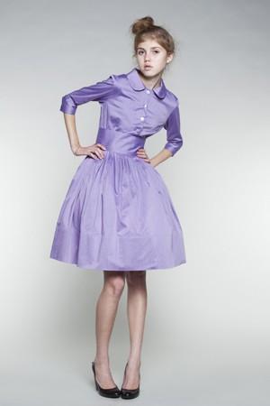 Boda - 1950s dress Full skirt dress Lilac bridesmaid dress Lilac prom dress 1950s bridemaid dress Womens dress Ladies dress Made to order dress