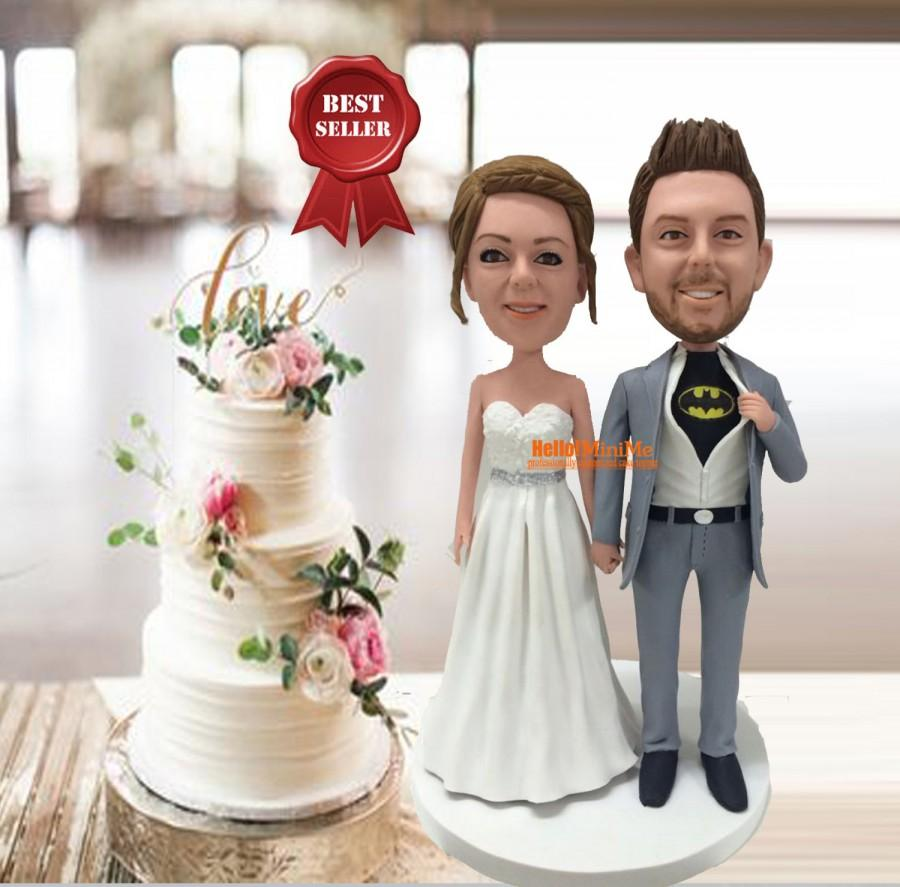 Bon Custom Cake Topper Wedding Bobblehead Batman Cake Topper Wedding Topper  Super Hero Cake Topper Bobble Head Wedding Cake Topper  CT G645
