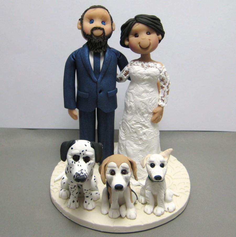 Mariage - DEPOSIT for a Custom made Polymer Clay Wedding Cake Topper