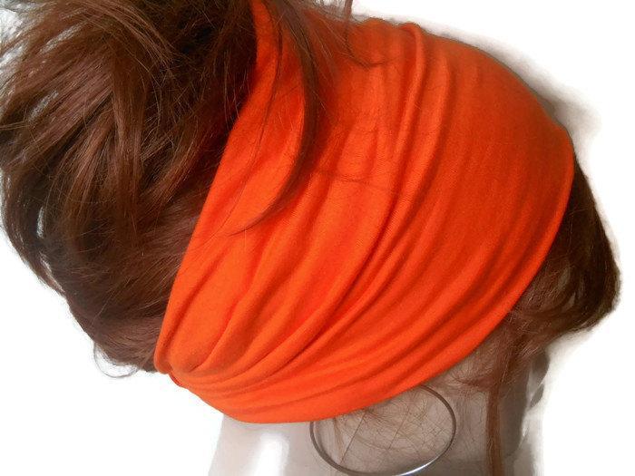 زفاف - Women Hair Bandana, Boho Headband, Scarf Bandana, Orange Bandana, Head bandana, Turban Headband, Bandana Headband, Bohem Headband