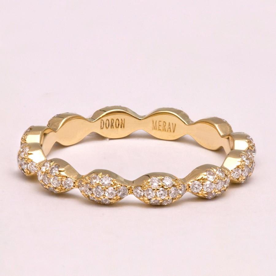 زفاف - Eternity Ring, 14K Gold and diamond Ring, Diamond Band, Eternity Ring, Eternity Band, Eternity Band, Delicate Band, R013