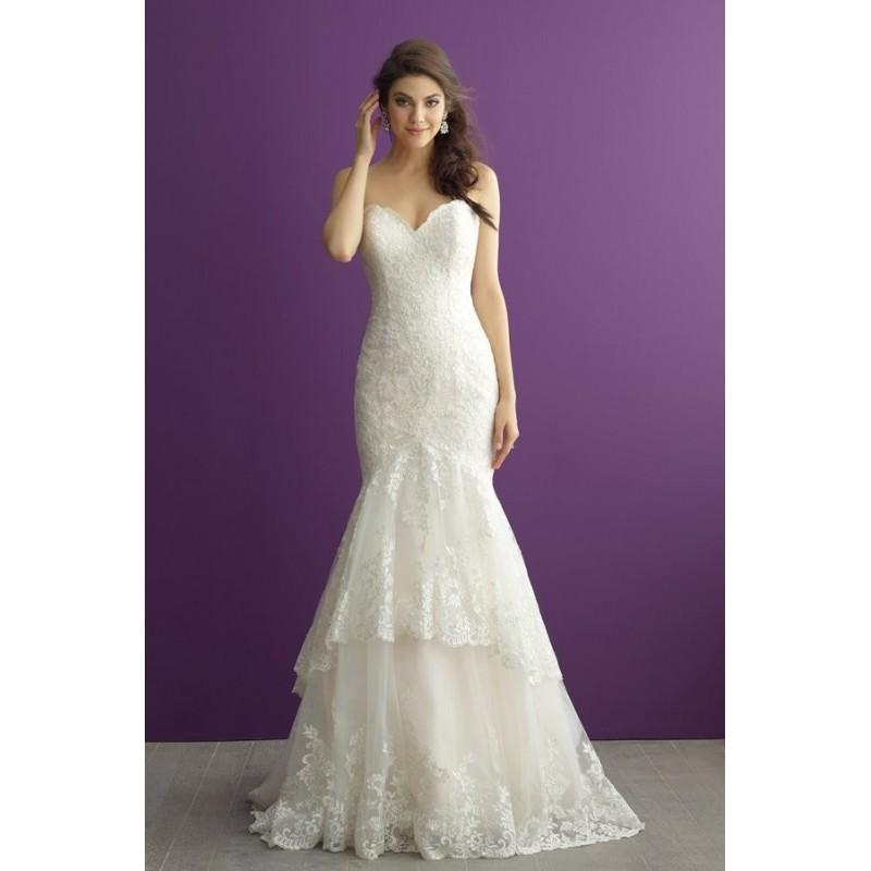 1c1056b999c Style 2958 By Allure Romance - Sleeveless Fit-n-flare Sweetheart ...