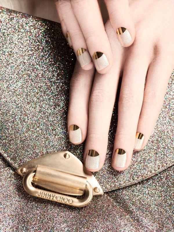Boda - Golden Nail Art