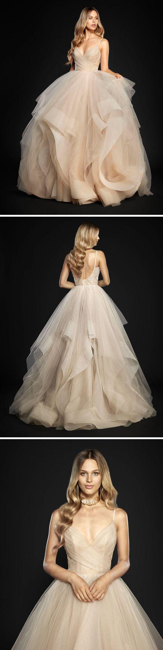 Wedding - Backless Ball Gown,Layered Tulle Prom Dress,Custom Made Evening Dress,17138