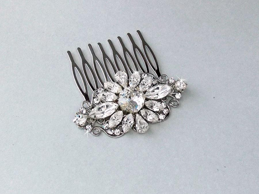 Mariage - Wedding Hair Comb, Crystal Hair Comb, Swarovski Crystals, Gatsby Hair Comb, Vintage Style, Bridal Headpiece - ABIGAIL