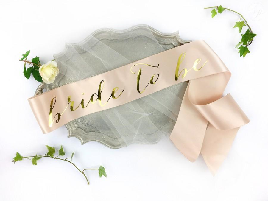 Mariage - Bachelorette Sash - Bride to Be Sash - Bachelorette Party - Bride Gift - Blush Bride Sash - Bridal Shower - Bachelorette Party Accessory