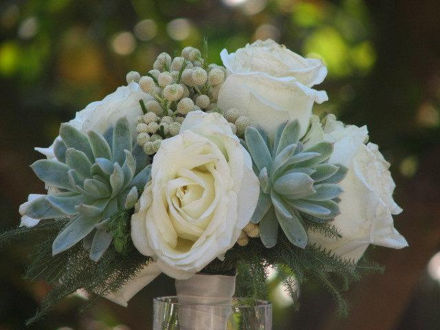 Mariage - Succulent and Flowers Wedding Bouquete