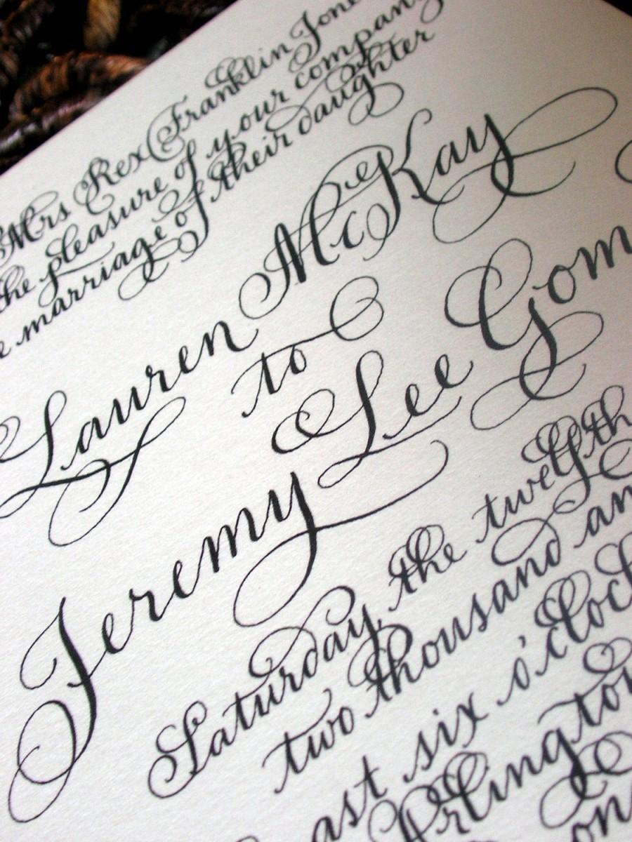 Calligraphy Wedding Invitations Love No. 19 \