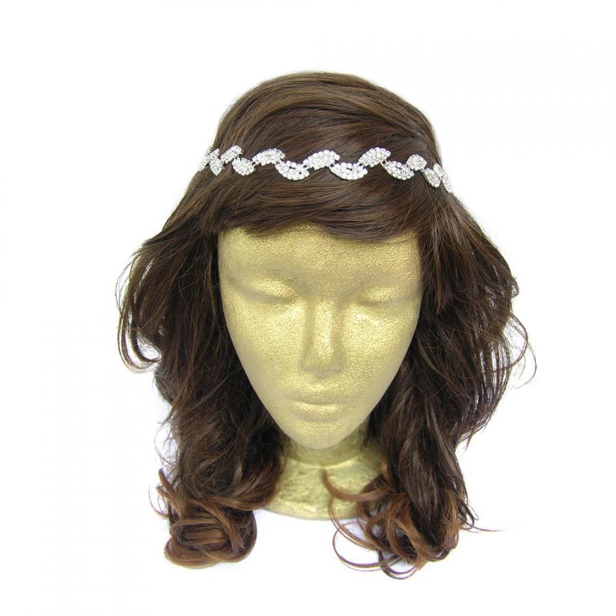 Mariage - Leaves Headband, Flower Girl Rhinestone Headband Headpiece, Leaf Rhinestone Headpiece, Wedding Headband, Prom Hair Accessories, Tiara, Mom