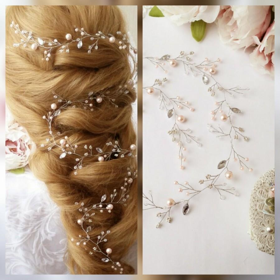Mariage - Extra Long hair vine,Bridal hair vine,Crystals Bridal Wedding,Hairpiece Bridal Hair Vine,Wedding hair-vine,pearl hair vine 27