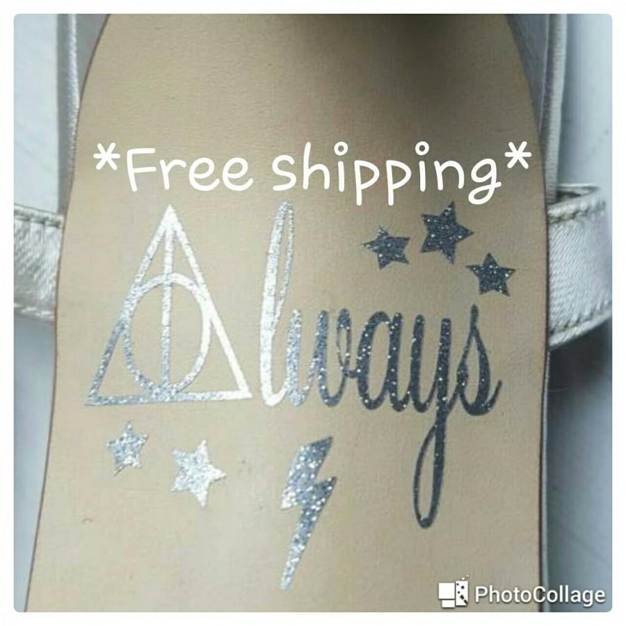 Mariage - Harry Potter inspired Always wedding shoe decals sole stickers *FREE DELIVERY