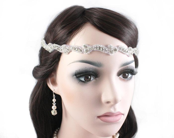 Mariage - MIA - Vintage Inspired Crystal Bridal Headband, Wedding Rhinestone Headband, Bridal Headpiece, Halo, Bohemian, Hair Accessory