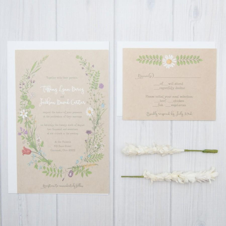 زفاف - Wildflower Wedding Invitations
